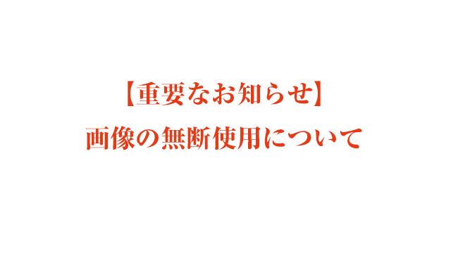 【重要なお知らせ】画像の無断使用について