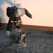 ヒューマノイドロボットによる不整地歩行の実験