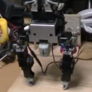 手先で逆立ちするロボット